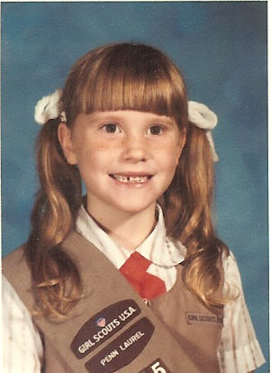 Mrs. Hughes as a 1st grade student