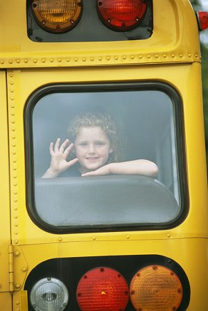 child on bus