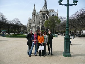 Chaperones in front of Notre Dame de Paris