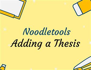 adding a thesis