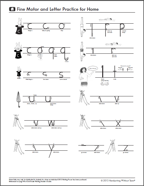 Handwriting Without Tears Lowercase Formation Page 2