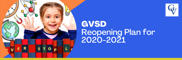 Reopening Plan for 2020-21 School Year